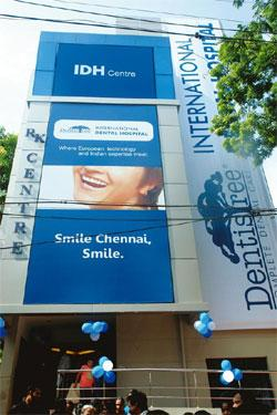 Growing market: The building that houses Chennai dental service provider VV Dentistree. Dental clinics hope patients seeking an oral overhaul will find it viable to travel to India.