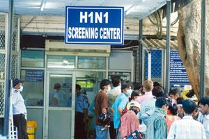 Timely procurement: A screening centre for the H1N1 virus at a New Delhi hospital. India has not yet made any purchase commitment to the three biotechnology companies developing H1N1 vaccines in the c