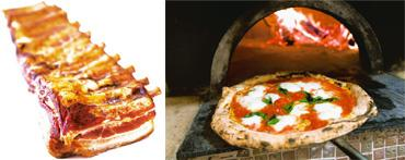 Changing tastes: (top) Smoked pork belly; and Margherita pizza fresh out of a wood-fired oven at Kesté in New York City. Photographs by AP, Andrew Harrer / Bloomberg