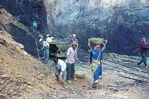 Precious fuel: A file photo of coal mining in India. Most Indian companies seek the commodity for their own projects, while rival bidders may have higher-margin alternative plans, say analysts. Hindus