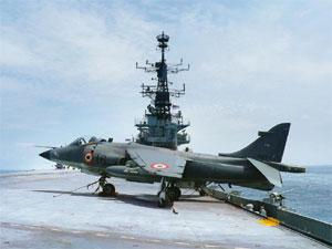 Performance issues: A Sea Harrier aboard the INS Viraat. Credit Line