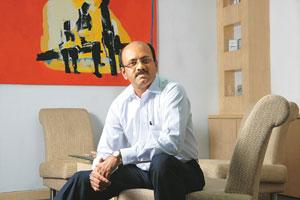Home advantage: Subash Menon, CEO of Subex, one of India's earliest IT product firms, says there is a ready domestic market for start-ups. Hemant Mishra / Mint