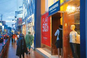 Flat out: A Dockers outlet in Bangalore. Of the 30-odd stores in India, at least 25 have been shut and the remaining are selling their stock. Hemant Mishra / Mint