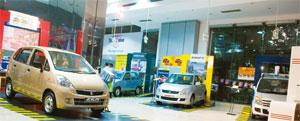 Higher gear: A Maruti Suzuki showroom in New Delhi. Indian car makers sold 1.22 million cars last fiscal. Ramesh Pathania / Mint