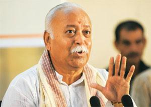 Clearing the mess: RSS chief Mohan Bhagwat. Manpreet Romana / AFP
