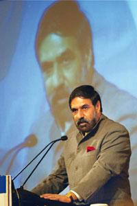 Hopeful: Commerce minister Anand Sharma says India may return to an annual average export growth of 25% in three years to 2014. Kamal Kishore / PTI