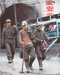 Alarm bells: Coal miners in China. In each of the last three years, China has reduced the amount of rare earth elements that can be exported. Natalie Behring / Bloomberg