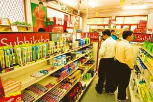 Feeling the pinch: A file photo of a Subhiksha store. Subhiksha shuttered its entire chain of around 1,600 stores across the country since January in the wake of a financial crunch. Harikrishna Katrag