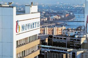 Fighting flu: Novartis headquarters in Switzerland. The firm said its H1N1 vaccine had a strong immune response after just one dose.