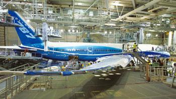 Battling odds: Boeing's manufacturing plant in Washington, US. The company acknowledges that the delays have sorely tested the patience of suppliers and customers, and damaged its credibility. Kevin P