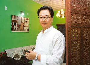 Friend turned foe: Former MP Kiren Rijiju, under whose leadership the BJP had made considerable inroads. Ramesh Pathania / Mint