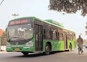 Poor show: Only 283 buses have been delivered of the 11,431 that various state transport authorities ordered. Ramesh Pathania / Mint