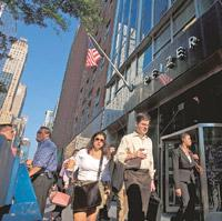 Competitive steps: A file photo of Pfizer Inc.'s headquarters in New York. The Indian arm of the world's top drug firm hopes the generic portfolio will boost its revenue once it succeeds in semi-urban