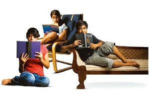 Life lessons: (from far left) Ananya Mukherjee, Miriam John and Soumyo Roy enjoy reading books with gritty, real life themes.