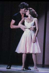"Patrick Swayze (L) and Jennifer Grey are shown in a scene from the 1987 film ""Dirty Dancing"" in this publicity photo."
