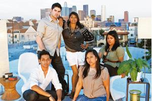Friends in need: (from left, back row) Victor Lara, Nisha, Reena Ray, (from left, front row) Hitesh Khalashi and Sharmila Ray will travel to India and make a documentary about Nisha's search for her b