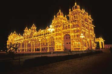 Resplendent: The Mysore Palace during Dussehra. Dinodia