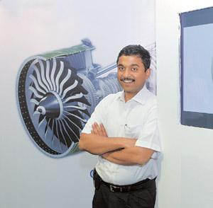 Ambitious goal: GE's Bansidhar Phansalkar at the technology centre in Bangalore. Phansalkar says the aircraft engine industry needs around four new product introductions in the next five-six years. He