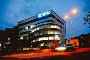 Preparing defence: Satyam's headquarters in Hyderabad. Investors in the US have filed at least a dozen class-action lawsuits against the firm. Bharath Sai/Mint