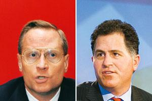 Teaming up: Ross Perot Jr (left).Dibyangshu Sarkar/AFP. (right) Michael Dell. Harikrishna Katragadda/Mint