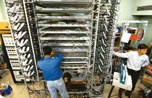 Losing time: A neutrino detector being assembled at the Tata Institute of Fundamental Research in Mumbai. In a letter to the Prime Minister, physicists said further delays could hurt the project's ov