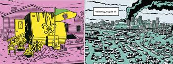 After the deluge: Neufeld's book on New Orleans after Katrina began as a Web comic.