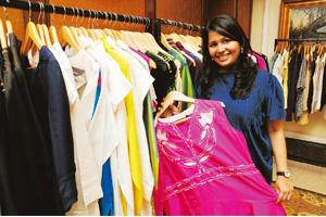 Wallet-friendly: Radhika Dhawan sells designer clothes through exhibitions. Bharat Sai / Mint