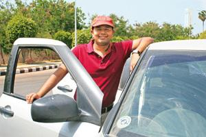 Share a car: Deepesh Agarwal's idea is ideal for congested Indian roads. Shashi Kiran / Mint