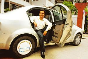 Ads on cars: Raghu Khanna has signed up with brands such as Adidas and Frito-Lay. Hemant Mishra / Mint