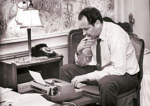 Word power: A file photo of William Safire. The columnist was a pugnacious contrarian who did much of his own reporting, called people liars in print and laced his opinions with outrageous wordplay. P