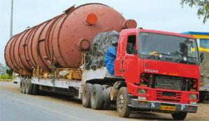 Heavy load: A file picture of a truck carrying a turbine. Ramesh Pathania / Mint