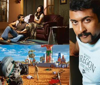 Beautiful south: (clockwise from top left) Suriya with wife Jyothika in the 2006 film Sillunu Oru Kaadhal. G. Venket Ram; his brooding, expressive eyes won him critical acclaim in films such as Nandha