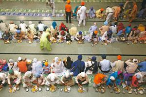 Soul food: Langar at gurdwaras consists of simple dishes for devotees.