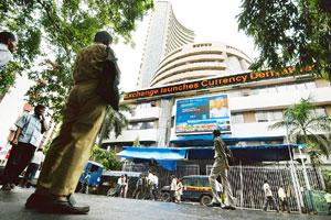 On a roll: The Bombay Stock Exchange's Sensex has more than doubled in value so far this year. Abhijit Bhatlekar / Mint