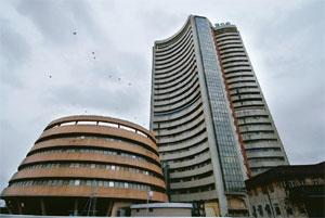 Matching moves: The Bombay Stock Exchange building in Mumbai. Abhijit Bhatlekar / Mint