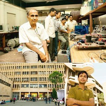 Attracting talent: (clockwise, from top) IIT Delhi Faculty Association chairman S.S. Murthy in a laboratory at the institute's campus; assistant professor Shouri Chatterjee; and the campus of the Indi