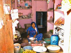 Fresh chance: Kaushalya Devi from Uttar Pradesh was helped by Rang De and now runs a provision store.