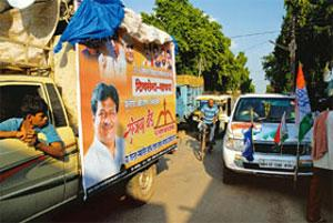 Election fever: Political campaigners in Maharashtra ahead of assembly elections in the state on Tuesday. Ashesh Shah / Mint