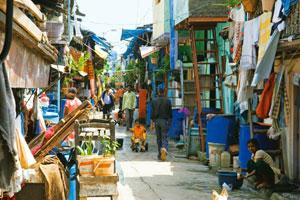 Lacking expertise: A file photo of the Dharavi slum area in Mumbai. Property consultants who have tracked the makeover project say that most of the existing bidders don't have the experience of redeve
