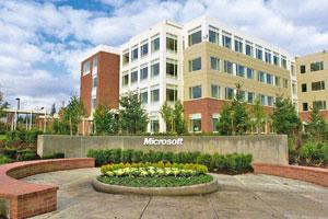 Gizmo revolution: A file photo of the Microsoft headquarters in Redmond, Washington. The firm expects that the arrival of Windows 7 this week will let PC users keep pace with other trendy computing de