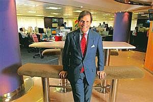 Up for competition: Grauer says Bloomberg will pick stake in UTV. Abhijit Bhatlekar / Mint