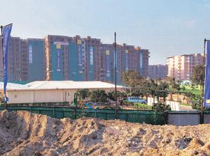 Lagging behind: The Commonwealth Games village in Delhi. The organising committee's own timetable had called for sponsorship rights sales to begin last November, and raising of Rs40 crore in sponsorsh