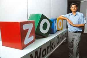 Huge ambitions: Zoho vice-president Shailesh Kumar Davey says the firm wants to be a one-stop shop. Sharp Image