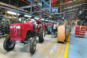 Riding high: A file photo of the M&M tractor plant in Mumbai. Abhijit Bhatlekar/Mint