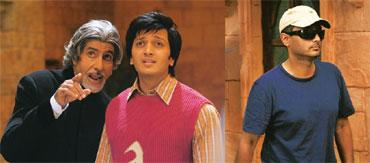 Genie talk: Bachchan with Deshmukh in a still from Aladin; (right) Ghosh on the set.