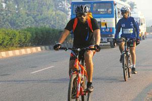 Pedal power: The Nilgiris tour means covering 100-120km every day.