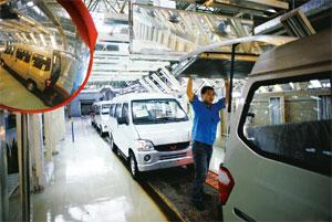 On recovery path: The Saic-GM-Wuling Automobile Co. factory in Liuzhou, China. Passenger-car purchases exceeded one million for the first time in September as GM reported that sales doubled. Qilai She