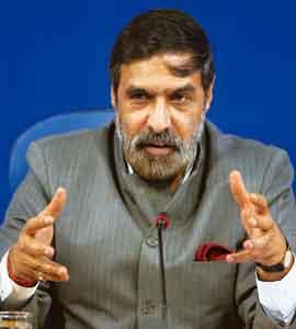 Ready to clarify: Commerce and industry minister Anand Sharma at the annual economic editors' conference in New Delhi on Wednesday. Kamal Kishore / PTI