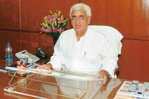 Self-regulation: Corporate affairs minister Salman Khursheed says executives should think as responsible citizens. PIB