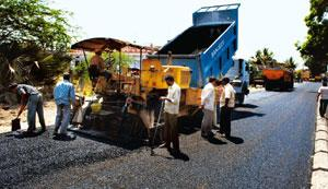 Seeking funds: A road under construction in Warangal, Andhra Pradesh. NHAI is in talks to raise funds for its projects. Mint